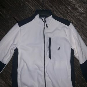 NAUTICA Vintage 90's Jacket Blue and White Size L